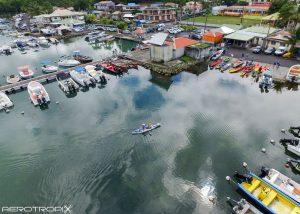 Concours de pêche - Vieux Bourg - Prise de vue par drone en Guadeloupe