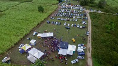 Photo aérienne par drone en Guadeloupe : Festival Ti Son Marie Galante