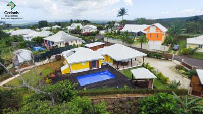 Photo aérienne par drone en Guadeloupe : Villa Sainte Rose Caribois