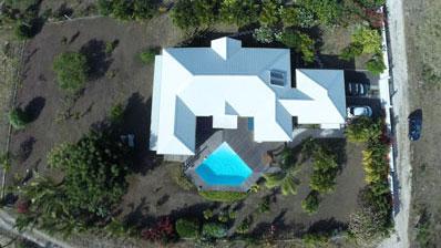 Photo aérienne par drone en Guadeloupe : Villa du Moule