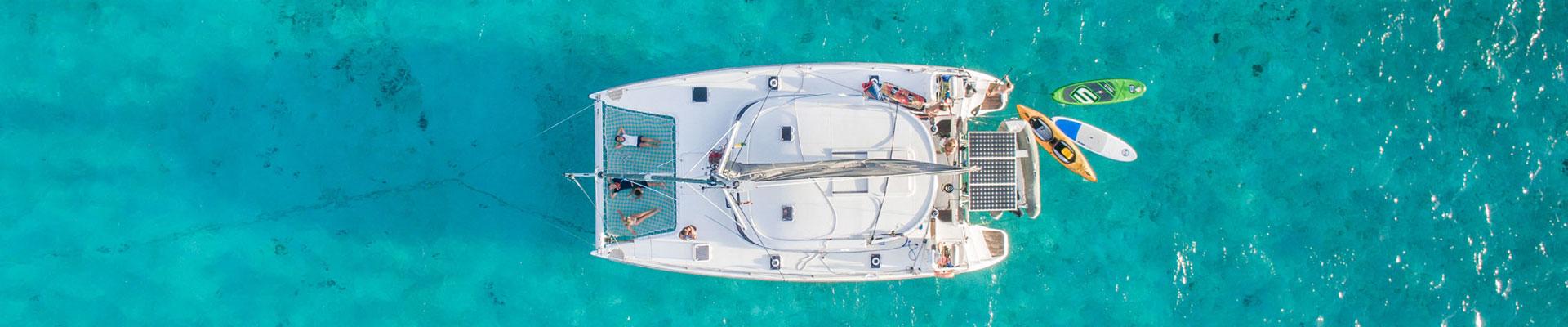 bateau vu par drone