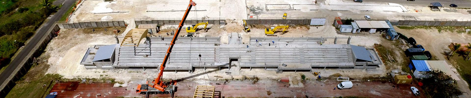 chantier vue par drone